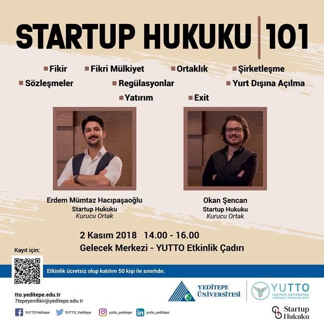Startup Hukuku 101 Yeditepe üniversitesi