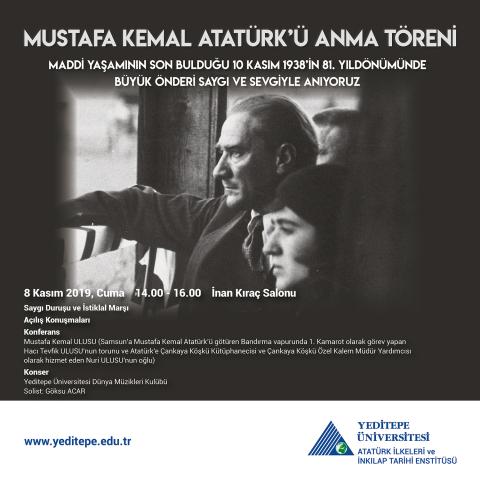 Mustafa Kemal Atatürk'ü Anma Töreni