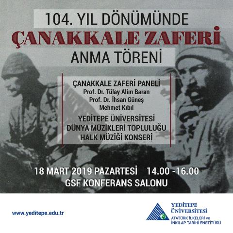 104. Yıl Dönümünde Çanakkale Zaferi Anma Töreni