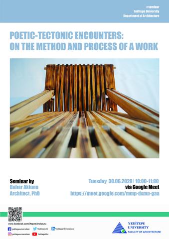 Mimarlık Fakültesi - Poetic-Tectonic Encounters: On The Method And Process Of A Work