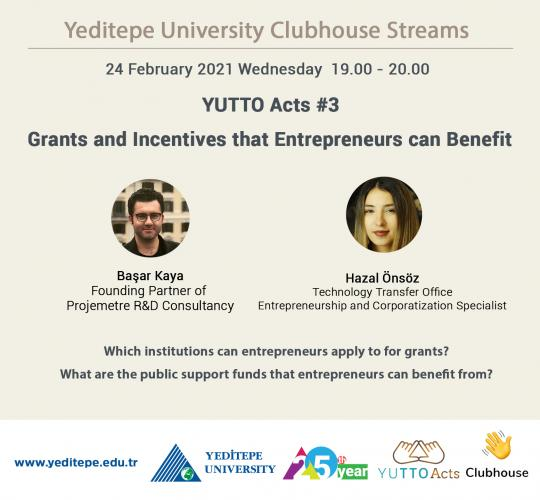 Yeditepe University Clubhouse Streams   YUTTO Acts #3
