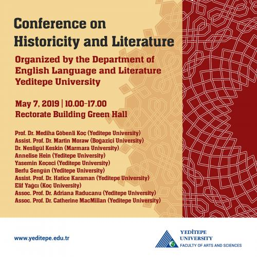 Faculty of Arts and Sciences - Conference of Historicity and Literature