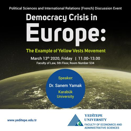 Democracy Crisis in Europe: The Example of Yellow Vests Movement