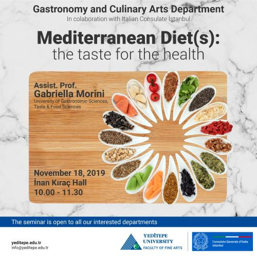 Gastronomy and Culinary Arts Department - Mediterranean Diet(s): the taste for the health