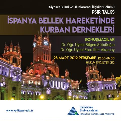 PSIR Talks - İspanya Bellek Hareketinde Kurban Dernekleri