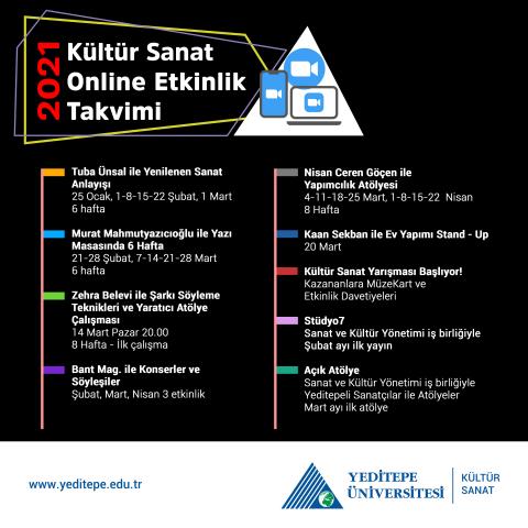 2021 Kültür Sanat Online Etkinlik Takvimi
