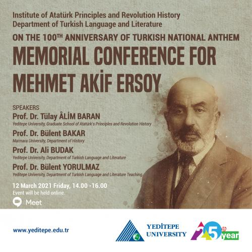 On The 100th Anniversary of Turkish National Anthem Memorial Conference For Mehmet Akif Ersoy