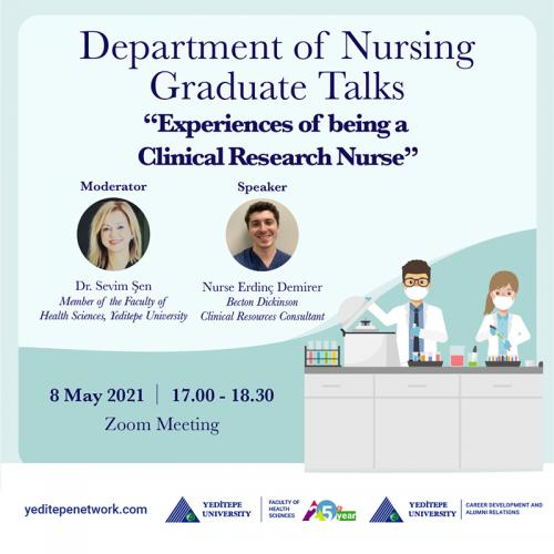 Department of Nursing Graduate Talks - Experiences of being a Clinical Research Nurse