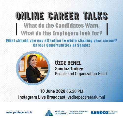 Online Career Talks - Career Opportunities at Sandoz