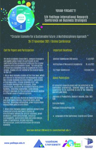 YIRCoBS'21 - 5th Yeditepe International Research Conference on Business Strategies