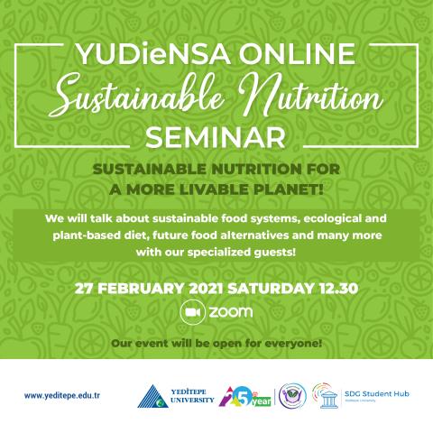 YUDİeNSA Online  - Sustainable Nutrition Seminar