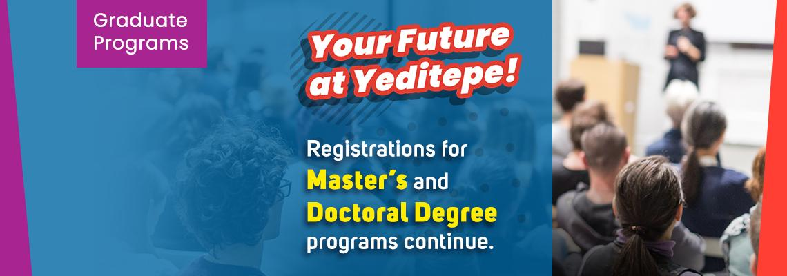 Registration for Master's and Doctoral Degree Programs Continue