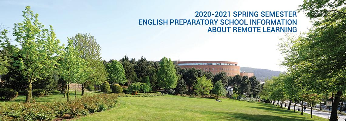 TO THE ATTENTION OF ENGLISH PREPARATORY SCHOOL (2020-2021 SPRING SEMESTER)